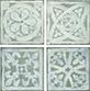 "Ins. Dec. Archeo(set. 4 pz.)  10x10. 4""x4"""