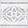 Fascia Dec. Delft 10×10 . 4″x4″