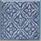 Tappeto Dec. Delft Fondo Blu 10×10 . 4″x4″